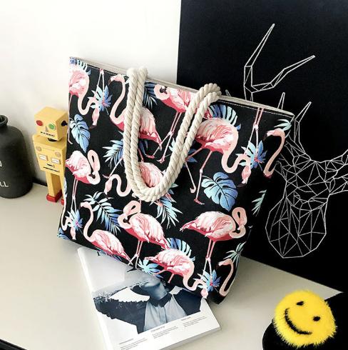 Сумка с фламинго-4