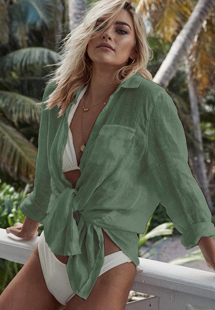 Зеленая рубашка-0